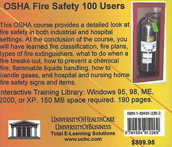 Osha Fire Safety 100 Users By Daniel Farb Cd-rom 2005
