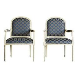 Chair French Accent Chair Bergere Chair Nicole Chair By Ethan Allen Pair