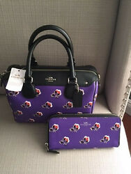 NWT COACH MINI BENNETT SATCHEL F55464 AND MATCHING WALLET F56732 $490