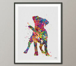 Jack Russell Cute Dog Watercolor Print Jack Russell Terrier Gift Pet Dog Love