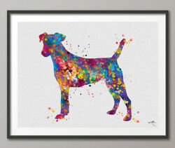 Jack Russell Dog Watercolor Print Jack Russell Terrier Gift Pet Dog Love Dog art