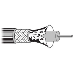Belden 1695a 1000and039 Reel Rg 6/u Precision Video Cable 18 Awg Coax White Plenum