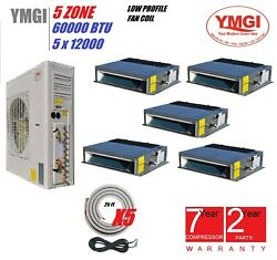 YMGI 60000 BTU 21 SEER 5 ZONE DUCTLESS SPLIT AIR CONDITIONER WITH HEAT PUMP