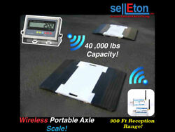 SellETon Wireless portable Weigh pads for truck  car  axle scale 40000 Cap.
