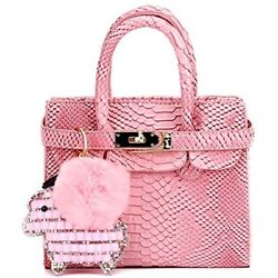 Colorful Accessories Python Grain Kids Crossbody Handbags For Girls With Little