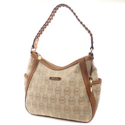 MICHAEL MICHAEL KORS   Shoulder Bag Logo design canvas Leather