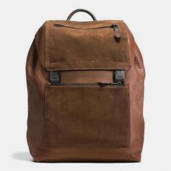 Coach Men's retail 72324 PATCHWORK MANHATTAN backpack in brown leather and suede