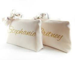 Bridal shower gift Hen party personalized cosmetic bag $14.94