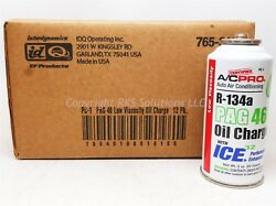 Case12 ACPro R134a PAG 46 Oil Charge wICE32 Performance Enhancer PC-1 Auto AC