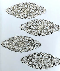 20 Pcs Silver Plated Embellishment Scrapbook Paper Filigree Metal Stamping Lace