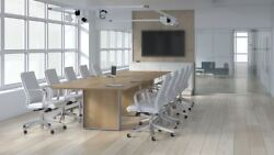 Quorum 12and039 Rectangular Conference Table With Knife Edge
