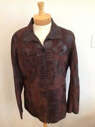 Extremely Rare Vintage Emporio Mens Leather Jacket Size 46