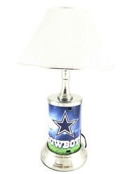Nfl Official Metal License Plate Desk / Table Lamp Best Gift Exclusive