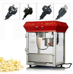 220v Electric Commercial Automatic Popcorn Machine With Insulation Function 6 Oz