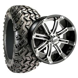 E Z Go Golf Cart Part 12 Wheel/tire Assembly For Lifted Carts 22x11-12