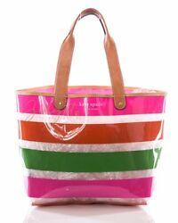 Kate Spade Large Clear Striped Tote Beach Bag
