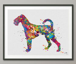 Airedale Terrier Watercolor Print Dog Print Pet Gift Dog Lover Dog Art Puppy