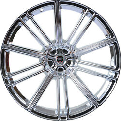 4 GWG Wheels 18 inch Chrome FLOW Rims fits CHEVY IMPALA 2000 - 2013