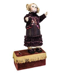 19th Century Wind Up Automaton Doll Continental Moves Arms Head And Body