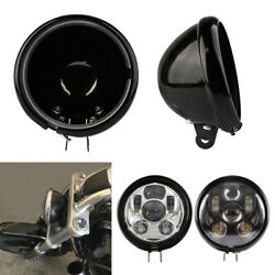 5.75quot; Black Motorcycle Headlight Cover Housing Holder Bucket For Harley Dyna $19.49