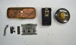 1941 Cadillac And Others Assortment Of Interior Parts- Horn Button Mirror Etc.