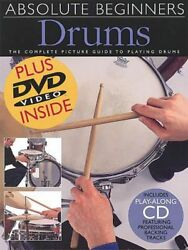 Absolute Beginners Drums Value Pack Music Book/cd/dvd-brand New On Sale-rare