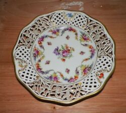 Vintage Schumann Germany Reticulated Plate Floral Design 9