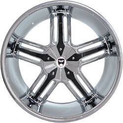 4 GWG Wheels 20 inch Chrome Black SPADE Rims fits CHEVY IMPALA 2000 - 2013