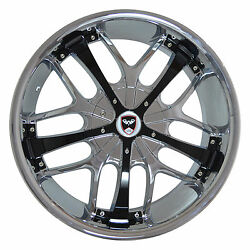 4 GWG Wheels 20 inch Chrome Black SAVANTI Rims fits CHEVY IMPALA 2000 - 2013