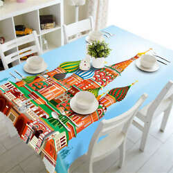 Colorful Castle 3d Tablecloth Table Cover Cloth Rectangle Wedding Party Banquet