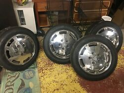 4 1986 Porche 928s2 Chrome Wheels With New 225/50 Zr16 92w Hanook Tires Look