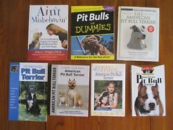 American Pit Bull Terrier Book Lot of 7 Canine Obedience Dog Training Books