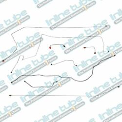 Fits 84-87 Jeep Cherokee Xj Non Abs Preformed Hydraulic Brake Line Set Stainless
