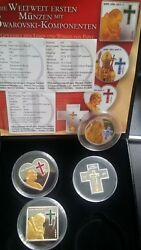 2005 4pc Northern Mariana Pope Silver Coin Set Rare