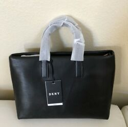 DKNY tilly black bag big letters leather new with tags medium size