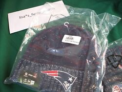 New England Patriots New Era Knit Rush Hat Beanie New 2017-18 Authentic On Field