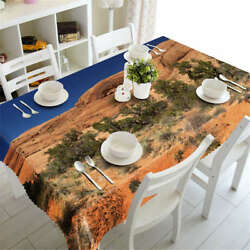 Sandy Desert 3d Tablecloth Table Cover Cloth Rectangle Wedding Party Banquet