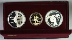 1983-1984 Olympics 3 Coin Commem Proof Set W/ 10 Gold And 2 Silver Dollars Jah