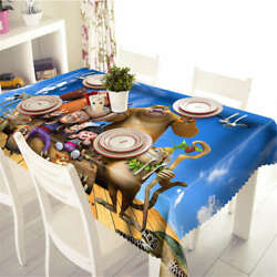 Child Animation 3d Tablecloth Table Cover Cloth Rectangle Wedding Party Banquet