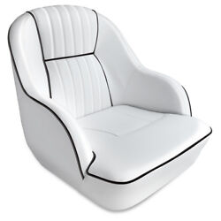 Leader Accessories Deluxe Bucket Boat Seat White/black Piping