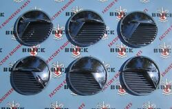 1951-1952 Buick Special And Super Front Fender Portholes. Set Of 6 Die Cast Chrome
