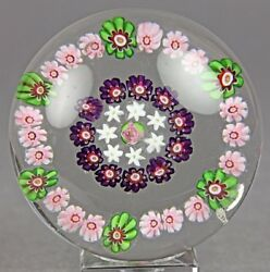 Antique French Clichy Rose Garland Paperweight 1845-55