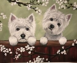 West Highland Terrier WESTIE PRINT from Painting art Dog 8x10 ONLY 2 LEFT