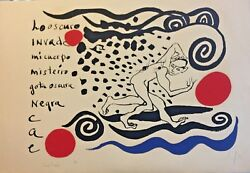 Alexander Calder- Lo Oscuro Invade - Original Lithograph - Signed And Numbered