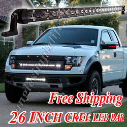 26 Inch Cree LED Light Bar Spot Beam LED BAR FOR Offroad 4x4 Truck RZR GMC Ford