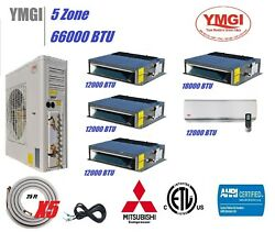 YMGI 66000 BTU 16 SEER 5 ZONE DUCTLESS SPLIT AIR CONDITIONER WITH HEAT PUMP