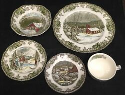 Johnson Brothers Friendly Village 5 Pc Place Setting, England, With Box