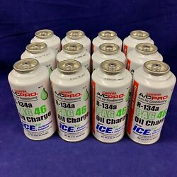*Set of 12* R-134a Refrigerant PAG 46 Oil Charge Auto Air Conditioner 3oz.