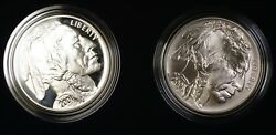 2001 American Buffalo Commemorative Coins Silver 1 Dollars Proof And Unc Ogp