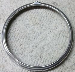 Early Stainless Headlight Bezel Need Help To Identify 8 5/8 Id And 10 Od